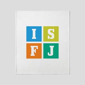 Myers-Briggs ISFJ Throw Blanket