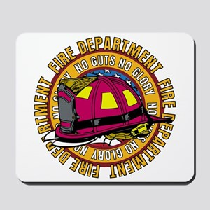 No Guts No Glory Firefighter Mousepad