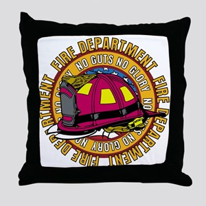 No Guts No Glory Firefighter Throw Pillow