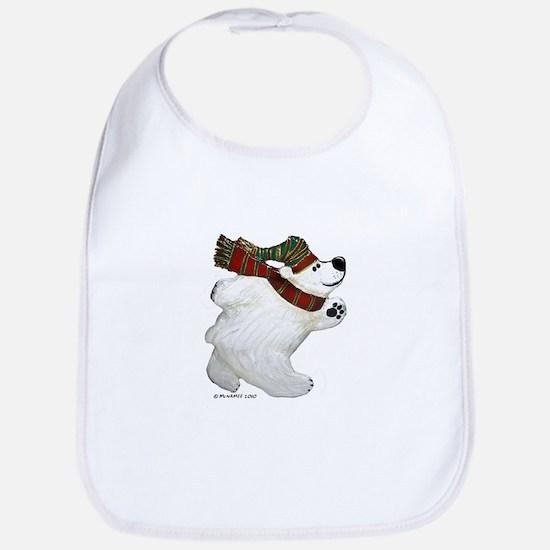 Polar Bear Christmas Bib