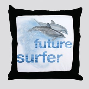 future surfer Throw Pillow