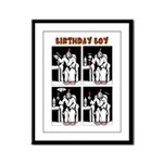 Birthday Boy Framed Panel Print