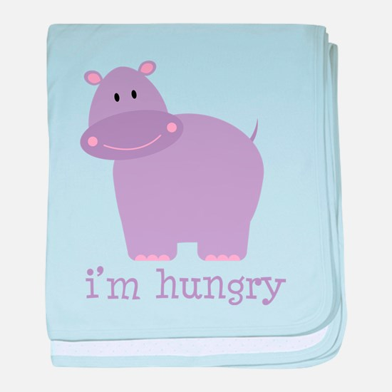 Hungry Hippo baby blanket