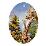 Christmas Animals Ornament (Oval)