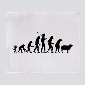 Evolution of Sheeple Throw Blanket