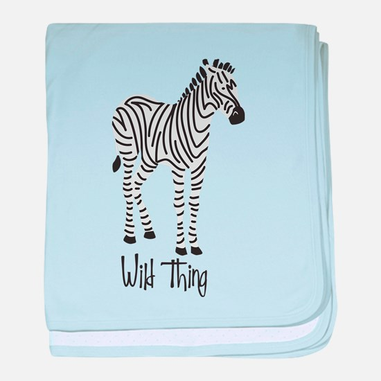 Wild Thing Zebra baby blanket