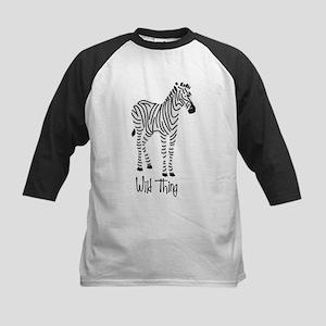 Wild Thing Zebra Kids Baseball Jersey