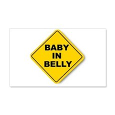 Baby in Belly 20x12 Wall Peel