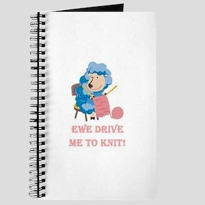 Ewe Drive Me to Knit Journal