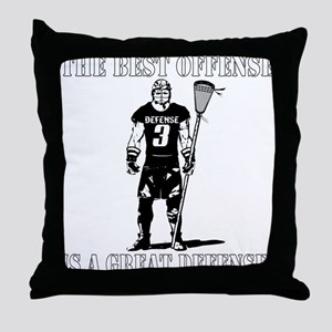 Lacrosse Defense Best Offense Throw Pillow