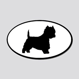 West Highland Terrier Oval 20x12 Oval Wall Peel