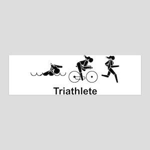 Ladies' Triathlete 36x11 Wall Peel