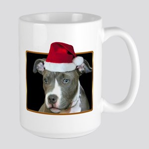 Christmas Pitbull Pup Large Mug