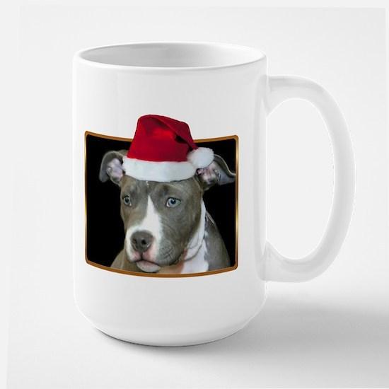 Christmas Pitbull Pup Large Mug