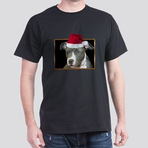 Christmas Pitbull Pup Dark T-Shirt