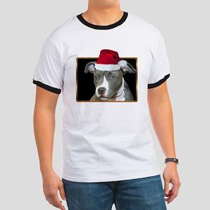 Christmas Pitbull Pup Ringer T