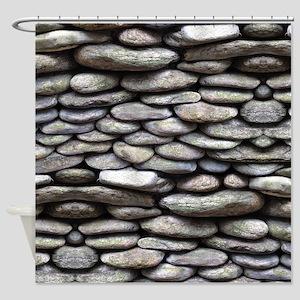 Rock Wall Shower Curtain