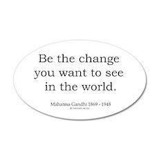 Mahatma Gandhi 5 20x12 Oval Wall Peel