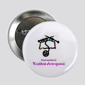 "Knitter's Anonymous 2.25"" Button"