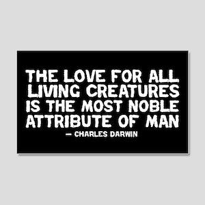Love of All Creatures - Darwi 20x12 Wall Peel