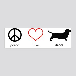 Peace, Love, Drool 36x11 Wall Peel