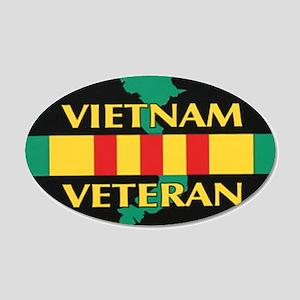 Vietnam Veteran 20x12 Oval Wall Peel