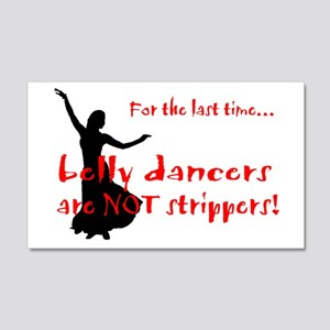belly dancers not strippers 20x12 Wall Peel