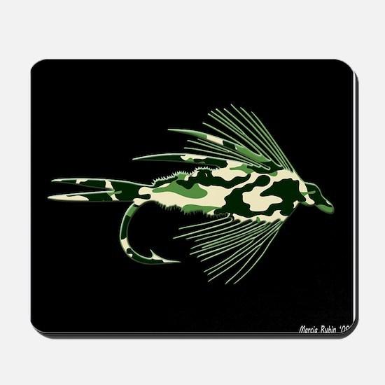 GREEN CAMO FLY Mousepad