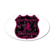 Registered Nurse Diva League 20x12 Oval Wall Peel