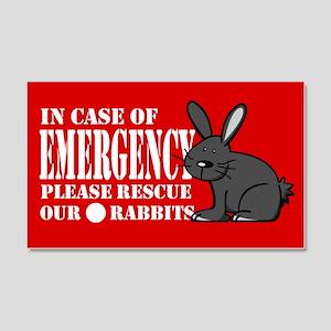 Rabbit Rescue 20x12 Wall Peel
