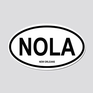 New Orleans 20x12 Oval Wall Peel