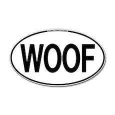 WOOF Oval 20x12 Oval Wall Peel