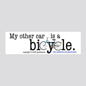 My Other Car Is a Bicycle 36x11 Wall Peel