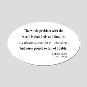 Bertrand Russell 2 20x12 Oval Wall Peel