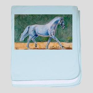 Ideal Dressage Horse baby blanket