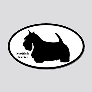 Scottish Terrier Silhouette Sticker (Euro-Style)