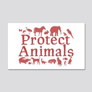 Protect Animals 20x12 Wall Peel