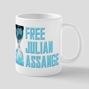 Free Julian Assange Wikileaks Mug