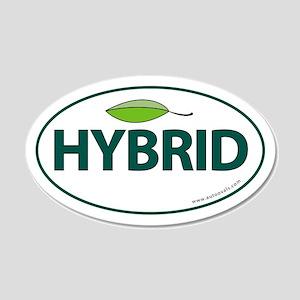 Hybrid Auto Bumper 20x12 Oval Wall Peel -Green Lea