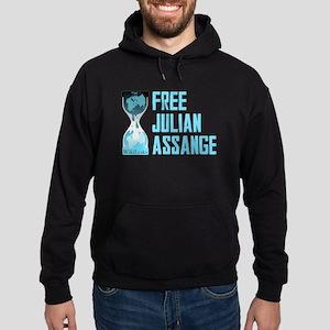 Free Julian Assange Wikileaks Hoodie (dark)