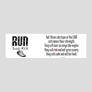 Isaiah 40:31 Run 36x11 Wall Peel