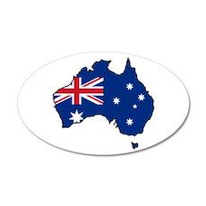 Cool Australia 20x12 Oval Wall Peel