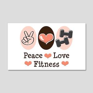 Peace Love Fitness 20x12 Wall Peel