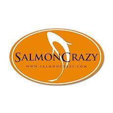 SalmonCrazy Logo 20x12 Oval Wall Peel
