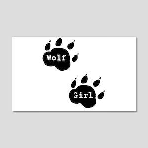 Wolf Girl 20x12 Wall Peel