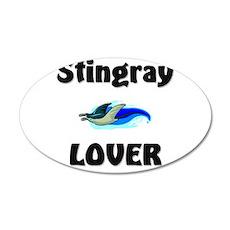 Stingray Lover 20x12 Oval Wall Peel