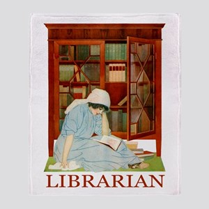 LIBRARIAN by Coles Phillips Throw Blanket