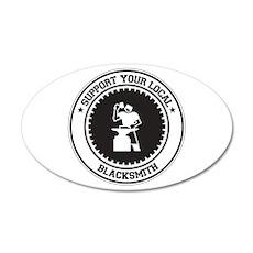 Support Blacksmith 20x12 Oval Wall Peel