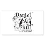 Daniel Jay Paul Sticker (Rectangle 50 pk)