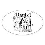 Daniel Jay Paul Sticker (Oval 50 pk)
